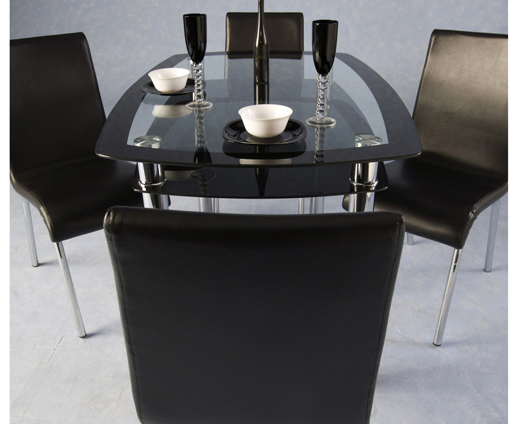 Top Black Glass Dining Table and Chairs 733 x 600 · 217 kB · jpeg